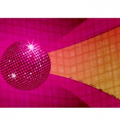 pink disco ball funky background vector image