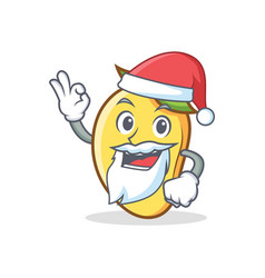 Santa mango character cartoon mascot vector