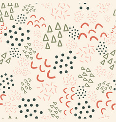 seamless background scribble shapes kids vector image