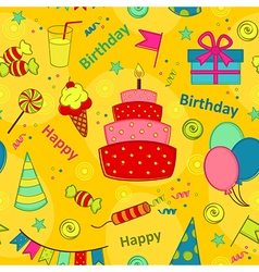 Seamless pattern happy birthday vector