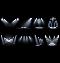 Set light effect spotlight vector