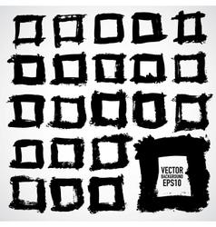 Set of grunge frames Grunge background vector image