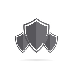 Shield protection logo vector image