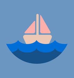 Ship icon flat pictogram on background symbol vector