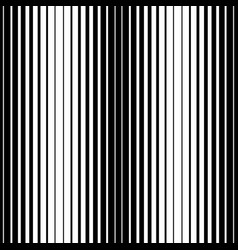 Simple striped pattern black and white vertical vector