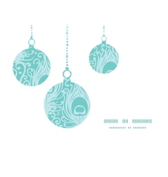 Soft peacock feathers Christmas ornaments vector