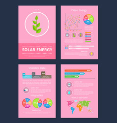 solar and clean energy set vector image