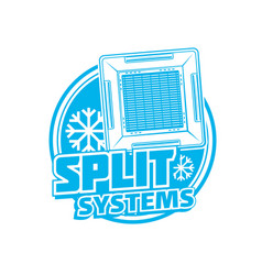 split systems icon with ceiling air conditioner vector image