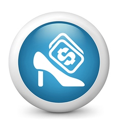 stiletto Buying glossy icon vector image