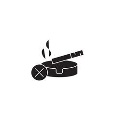 stop smoking black concept icon stop vector image