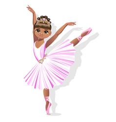 Sweet little ballerina in a shiny dress vector