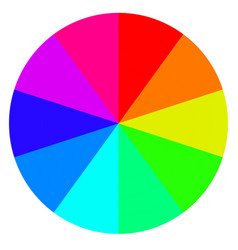 Template wheel fortune color palette vector