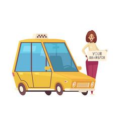 travel cartoon icon vector image