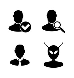 users avatars simple related icons vector image