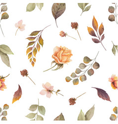 watercolor autumn seamless pattern vector image