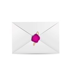 White Envelope Icon with Wax Seal vector image