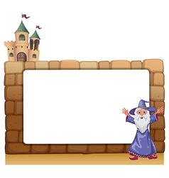 Wizard Castle Frame vector