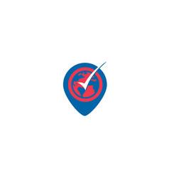world-wide-location-logo vector image