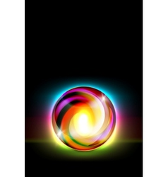 Abstract glowing ball for your design vector image vector image