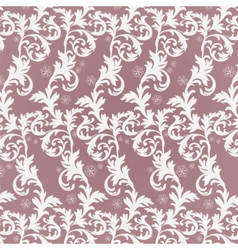 Classic damask floral ornament vector