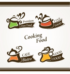 Cooking symbols vector image vector image