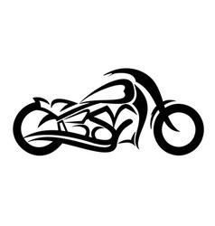 Motorcycle sketch vector image vector image