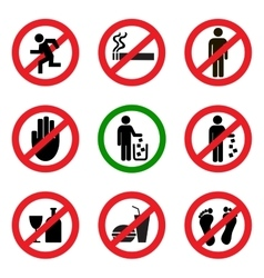 Prohibitory icons vector image vector image
