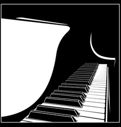 stylized grand piano vector image vector image