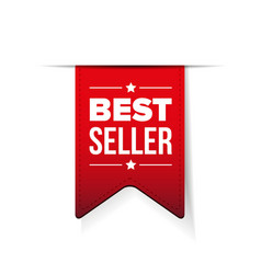 Best Seller red ribbon vector image vector image