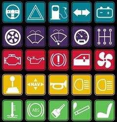 Car Dashboard Icon Set Basic Style vector image vector image