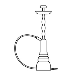 Eastern hookah icon outline style vector image