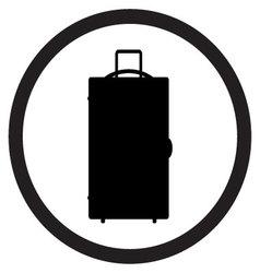 Luggage icon black white vector image