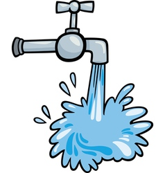 water tap clip art cartoon vector image vector image