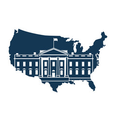 white house on background of the map vector image vector image