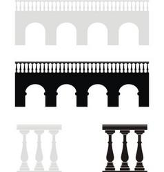 ancient bridge balustrade vector image vector image