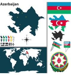 Azerbaijan map world vector image vector image