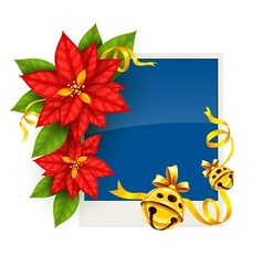 Christmas greeting card with vector image vector image