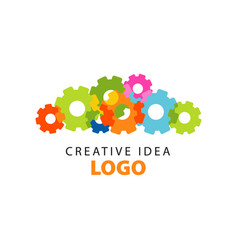 creative idea logo design template with colorful vector image vector image