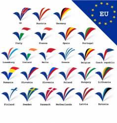 EU flags vector image vector image
