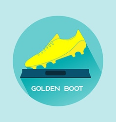 Golden Boot Soccer Reward vector image vector image