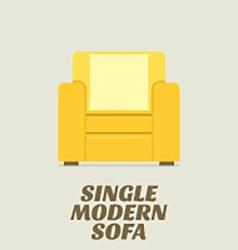 Single Modern Sofa Flat Design vector image vector image