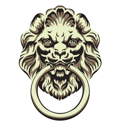 The head of a lion - door handle vector image