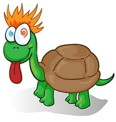 a foolish cartoon turtle vector image vector image
