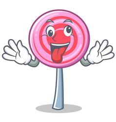 crazy cute lollipop character cartoon vector image vector image