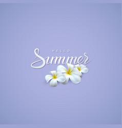 Handwritten summer retro label vector