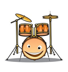 Set of drums and cymbals for a band vector image vector image
