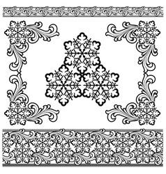 winter design elements vector image vector image