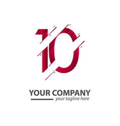 10 year anniversary your company template design vector