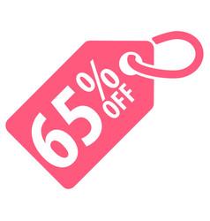 65 percent off tag vector image