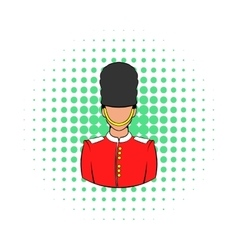 A Royal Guard icon comics style vector image